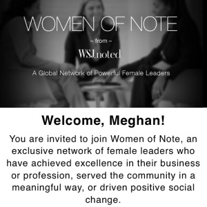 WSJ Women of Note Invite