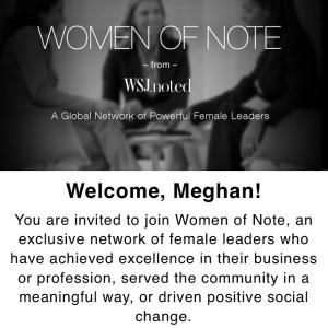 WSJ Women of Note Invite